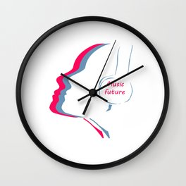The music of the future Wall Clock