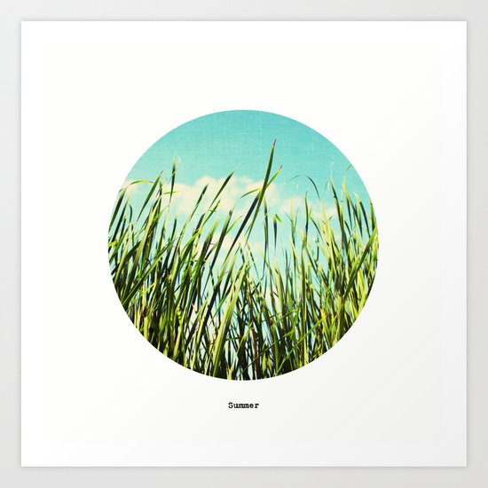 a view of summer Art Print