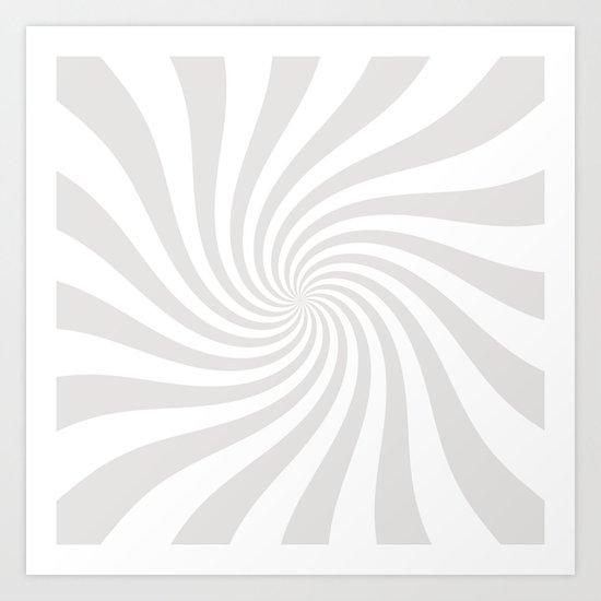 Swirl (Platinum/White) Art Print