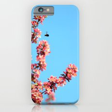 Pink flowers With Bee iPhone 6s Slim Case