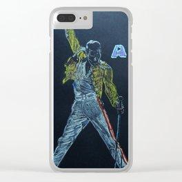 Freddie & Mercury A kind of Magic Tribute Clear iPhone Case