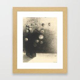 "Odilon Redon ""N'y a-t-il pas un monde invisible"" Framed Art Print"