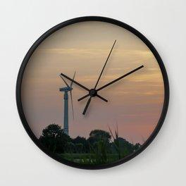 ad solis occasum ventus turbines ab Horumersiel Wall Clock