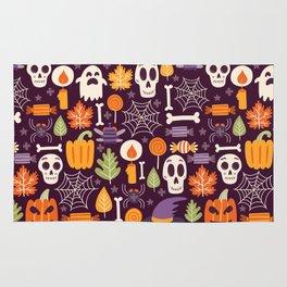 Retro Halloween Trick-Or-Treat Collage Rug