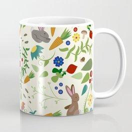 Rabbits In The Garden Coffee Mug