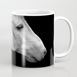 Casper | Horse Photography | Animal Art | Minimalism | Nature | black-and-white Coffee Mug