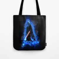 vader Tote Bags featuring Vader by Robin Curtiss