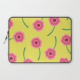 Liquid flowers pattern pink & yellow Laptop Sleeve
