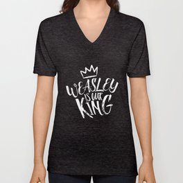 Weasley is our king Unisex V-Neck