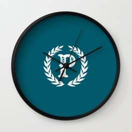 Dark Teal Monogram: Letter P Wall Clock
