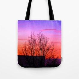 Concept landscape : city sunset Tote Bag