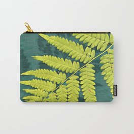 From the forest - lime green on teal Carry-All Pouch