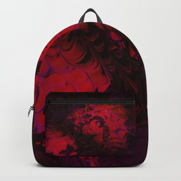 Hidden Face in the Red Backpack