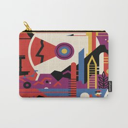 Mars planet abstract poster Carry-All Pouch