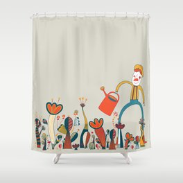 In Flowers Shower Curtain