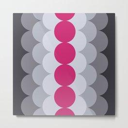 Gradual Pink Yarrow Metal Print