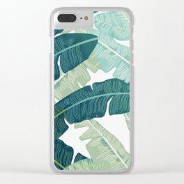 Tropical oasis Clear iPhone Case