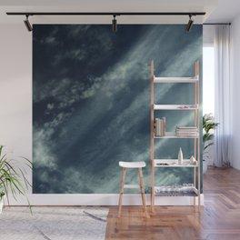 Cloud and sky 11 -cloud, sky, blue, positive,optimism Wall Mural