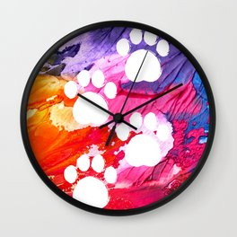 Painted Paws Wall Clock