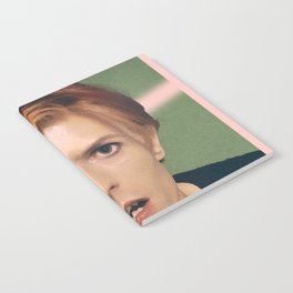pinky bowie green Notebook