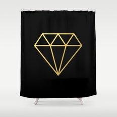 Gold Diamond Shower Curtain