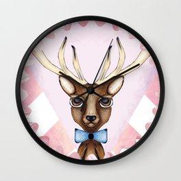 Pink Deer - Ciervo Rosa Wall Clock