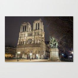 Notre Dame de Paris and Charlemagne Canvas Print