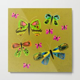 Jewel Box Butterflies Metal Print