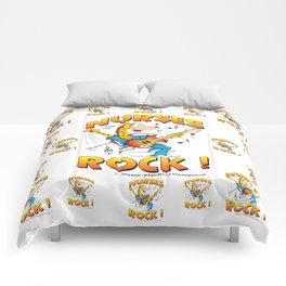 Nurses Rock Pattern Comforters