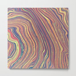 Marbled Geode Metal Print