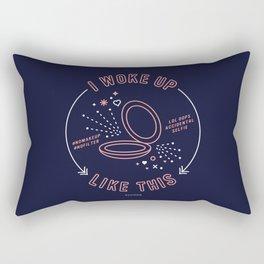 I Woke Up Like This – Blush & Denim Palette Rectangular Pillow