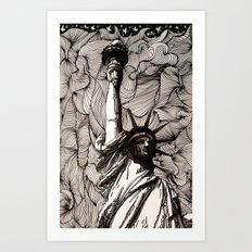 Lady Liberty Got nothing on me. Art Print