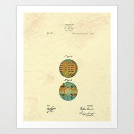 Golf Ball 1897 Art Print