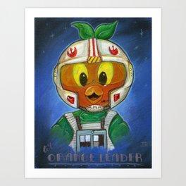 Li'l Orange Leader Art Print