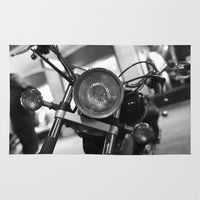 motorcycle Area & Throw Rugs featuring Motorcycle by James Tamim