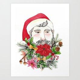 Santa Stuffed Beard Art Print