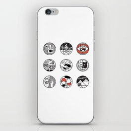 blurry icons iPhone Skin