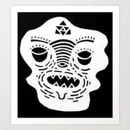 stencil face TEE invert Art Print