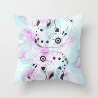 gemini Throw Pillows featuring GEMINI by Heaven7