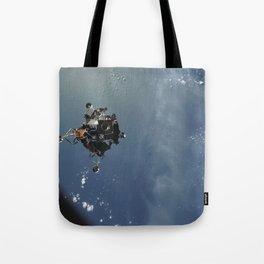 Apollo 9 - Lunar Module Over Earth Tote Bag