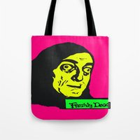 """gore Tote Bags featuring No, it's pronounced """"Eye-gore"""" 1 by Kramcox"""