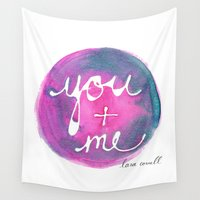 lara croft Wall Tapestries featuring You + Me by Lara Cornell by Lara Cornell