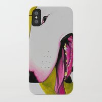 bull terrier iPhone & iPod Cases featuring Bull Terrier by Erin Shea