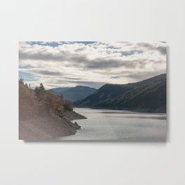 Autumn lake view Metal Print