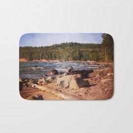 Michigan Upper Peninsula Shoreline Bath Mat