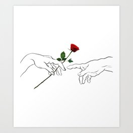 The Creation of a Rose Art Print