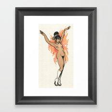 orange pin-up Framed Art Print