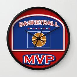 MVP Basketball board Wall Clock