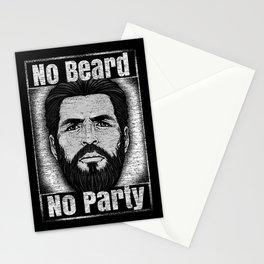 No Beard No Party Stationery Cards