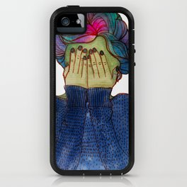 Green Girl with Galaxy Hair iPhone Case